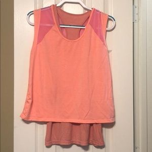 Tangerine Double later Top Size S